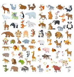 Big animals set4 vector image