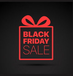 Black friday sale red logo concept vector