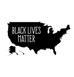 black lives matter or i cant breatext on usa vector image