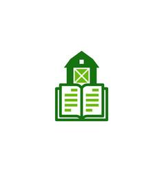 Book farm logo icon design vector