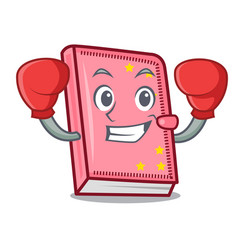 Boxing diary character cartoon style vector