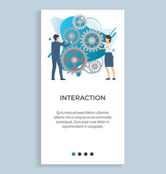 business innovation teamwork brainstorming vector image