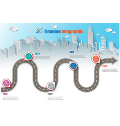 Business road map timeline infographic vector