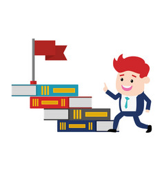 businessman books flag vector image
