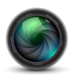 Camera shutter photo focus isolated design lens vector