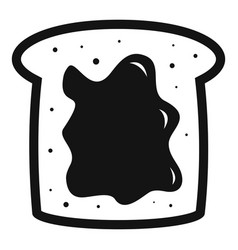 choco butter bread icon simple style vector image