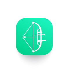 compound bow archery sport icon pictograph vector image