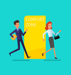 concept comfort zone vector image