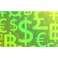 Currency background vector image vector image
