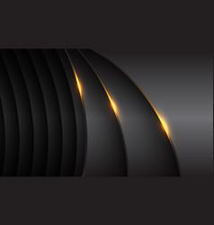 dark grey metallic curve overlap gold light vector image