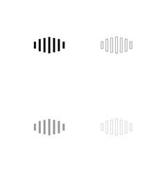 Digital signal black and grey set icon vector
