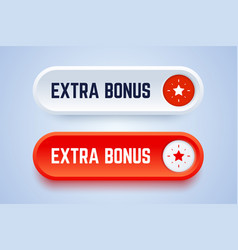 Extra bonus button with star sign vector