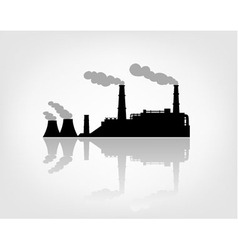 factory silhouette on the white background vector image