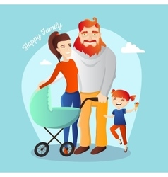 Family Happy parents with vector