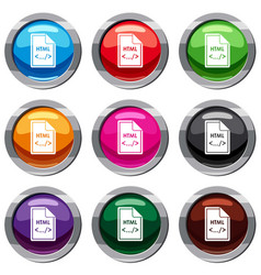 file html set 9 collection vector image