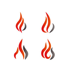 fire and flames logo icon design template vector image