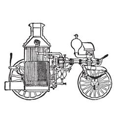 fire engine vintage vector image