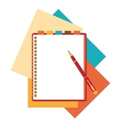 Flat design notepad paper sheet vector