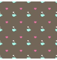 flat minimalistic tea or coffee cup seamless vector image