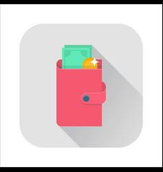 flat wallet icon vector image