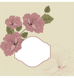 Floral background in retro with frame vector