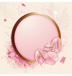 floral easter egg and grunge vector image