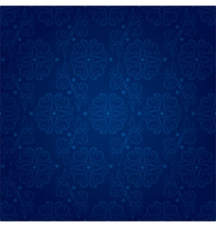 Floral seamless pattern on blue background vector