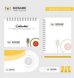 food logo calendar template cd cover diary and vector image
