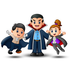 funny cartoon vampire in ha vector image