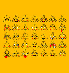 funny face eye parts with expressions emotion vector image