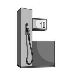 gas station for carscar single icon in monochrome vector image