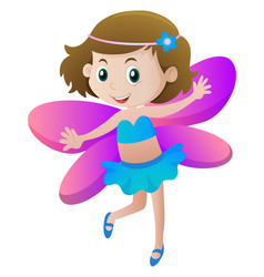 girl in fairy costume vector image