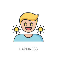 Happiness rgb color icon vector