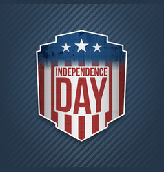 happy independence day usa label vector image