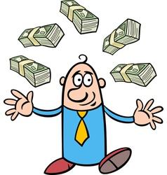 Happy rich businessman cartoon vector