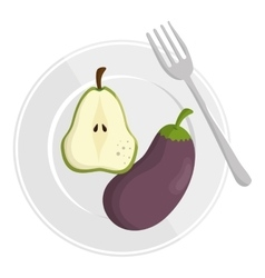 healthy food menu isolated icon vector image