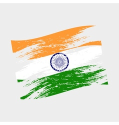 India color national flag grunge style eps10 vector