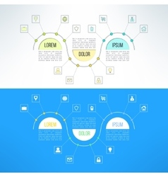 infographic template suitable for business vector image