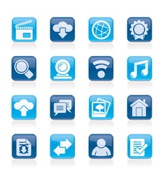 Internet and website icons vector image