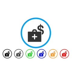 Medical fund case rounded icon vector