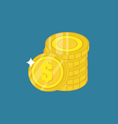 money coin isometric template design vector image
