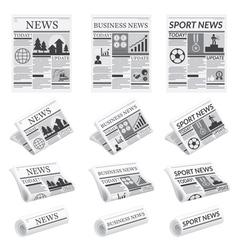 News Sport Business Newspaper vector image