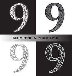 Nine Geometric vector image