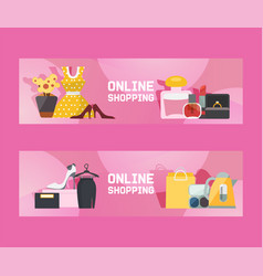online shopping for ladies vector image
