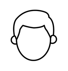 Outlined character man male design vector