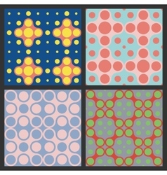 Pattern of circles Colorful vector