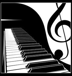 Piano keyboard with a symbolic note vector