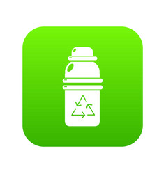 Purified water container icon green vector