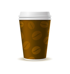 realistic style paper coffee cup vector image