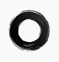 ring watercolor texture black color vector image